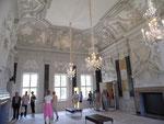 Der große Barocksaal im Mirower Schloss.