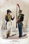 So präsentierten sich französische Marine-Füsiliere 1813.