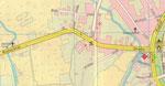 Blick auf den Stadtplan von 1977