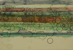 「小さな穴」 アクリル、色鉛筆、墨、パネルに紙 19.0×27.3㎝