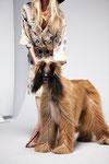 Bekele als Fotomodel für die Zeitschrift Anabelle
