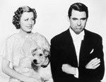publicity for 'The Awful Truth' with Cary Grant and Asta