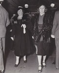 "10.18.1937 with Elizabeth Wilson at the preview of ""Ali Baba Goes To Town"""