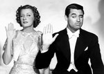 publicity for 'The Awful Truth' with Cary Grant