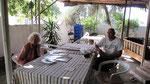 Having breakfast with Elisabeth Bitter, Demre
