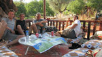 Me, Tal, Ivan and Tomer having a break at Purple House, Aperlai