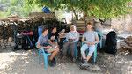 Arne, Cara and me having a break, Bogazici