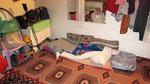 Improvisational bed, Hüseyin's Place, Saribelen