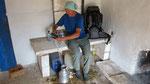 Ivan filtering water