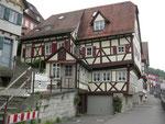 typisch für Schwäbisch Hall: schräge Häuser