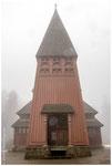 Stabkirche Hahnenklee im Nebel