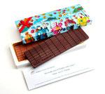 Schokolade und Verpackung für Sie gestaltet