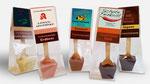 Trinkschokoladen mit Firmen-Crowner