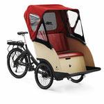 Triobike Taxi Regenverdeck Lasten e-Bike 2019