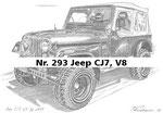 Nr. 293 Jeep CJ7, V8