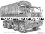 Nr.152 Saurer 8M 8x8, Jg. 1944