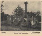 Розвалений будинок в Gelsendorf. Destroyed farms in Gelsendorf.  World War I