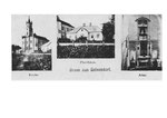 Кірха і дім священника Gelsendorf. Kirch and the house of the priest Gelsendorf.