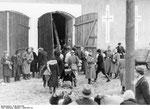 Табір для переселення Поляків у селі Gelsendorf (Загірне). Relocation camp for Poles in the village Gelsendorf (Zahirne)