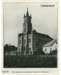 Німецька євангелістська церква у с. Гельзендорф ( Загірне ). German Evangelical Church in the village. Gelsendorf (Zahirne).