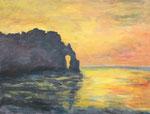 Sibylle die Schnelle: Sonnenuntergang bei Cliff d´Aval ebenfalls nach Monet.