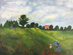 Fast fertig: Der Sommerspaziergang nach Monet von Margit.