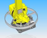 Asse 1 arco, coperchio di protezione per il montaggio del robot fanuc