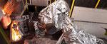 Tampa de alumínio forjar proteção fundição robô kevlar