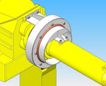 asse rotante giunto 4, coperchio di protezione per il montaggio del robot fanuc