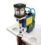 machine à bouton pression pour fermeture des housses robots