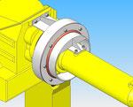 rotativa eixo da articulação 4 Fanuc que fixa cobertura de proteção robô