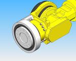 rotativa eixo da articulação 6 Fanuc que fixa cobertura de proteção robô