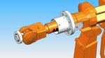 rotativa eixo da articulação 4 abb que fixa cobertura de proteção robô