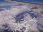Flug über Neuseeland