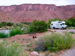 Campground Oak Grove, Moab, Utah, USA