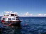 Tragflügelboot auf dem Titicacasee