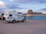 Lone Rock Campground, Lake Powell, Page, Arizona, USA
