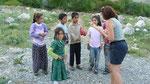 On remercie les enfants de leur visite