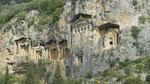 Dalyan: les tombeaux Lyciens