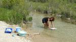 Lessive à la rivière