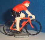 Cycliste métal Maillot orange CHAMPION  années 90