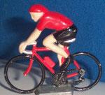Cycliste métal Maillot rouge CHAMPION  années 90