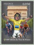 Le maillot jaune à l´arrivée du Tour de France aux Champ-Elysées