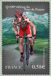 Le maillot à pois du meilleur grimpeur devant le Pic du Midi d´Ossau