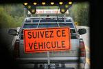 Travaux routiers - Convois guidés