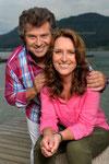 Andy und Birgit Borg am Rande von Dreaharbeiten im 2013 am Klopeinersee in Kärnten © Kerstin Joensson