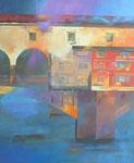 Florenz, Ponte Vecchio II von Diptychon, (100/80cm)