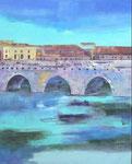 Italien, Rimini, (100/80cm), Tiberiusbrücke