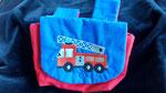 Kinder-Lenkertasche aus Baumwolle - Motiv Feuerwehr - 8,- Euro