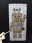 """Lampe """"Roboter"""": Baumwolle mit Bestickung - Preis 20,- statt 22,- Euro"""